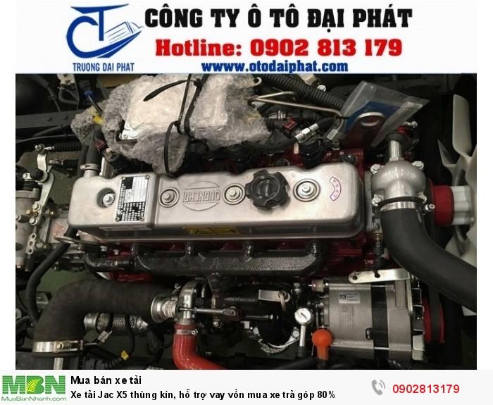 Xe tải Jac X5 thùng kín, hỗ trợ vay vốn mua xe trả góp 80% 4