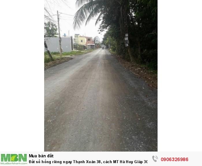 Đất sổ hồng riêng ngay Thạnh Xuân 38, cách MT Hà Huy Giáp 300m, khu dân cư, đường 12m