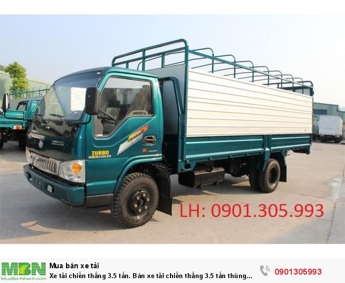 Xe tải Chiến Thắng 3.5 tấn. Bán xe tải Chiến Thắng 3.5 tấn thùng mui bạt dài 5m1. 0