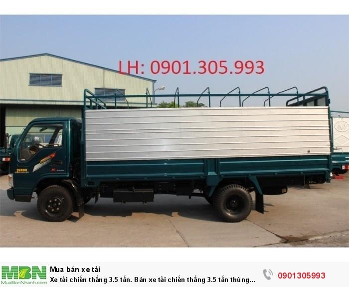 Xe tải Chiến Thắng 3.5 tấn. Bán xe tải Chiến Thắng 3.5 tấn thùng mui bạt dài 5m1. 1