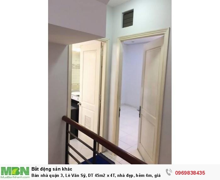 Bán nhà quận 3, Lê Văn Sỹ, DT 45m2 x 4T, nhà đẹp, hẻm 4m