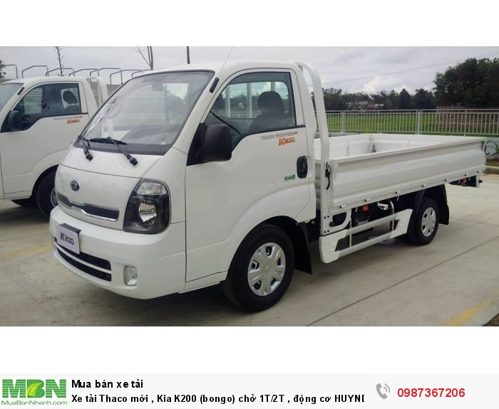 Xe tải Thaco mới , Kia K200 (bongo) chở 1T/2T , động cơ HUYNDAI , EURO4 , trả góp 80%