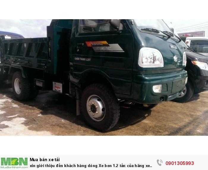 Xin giới thiệu đến khách hàng dòng Xe ben 1.2 tấn của hãng xe Chiến Thắng 1