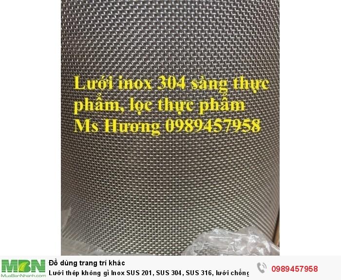 Lưới thép không gỉ Inox 304, Inox 316, lưới chống chuột, chống côn trùng, lưới chống mối3