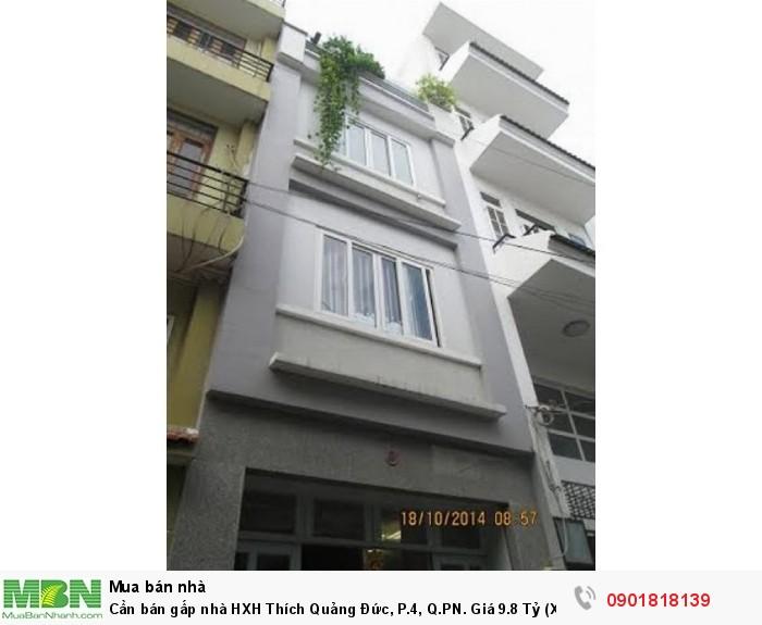 Cần bán gấp nhà HXH Thích Quảng Đức, P.4, Q.PN. (Xe hơi để trong nhà được).