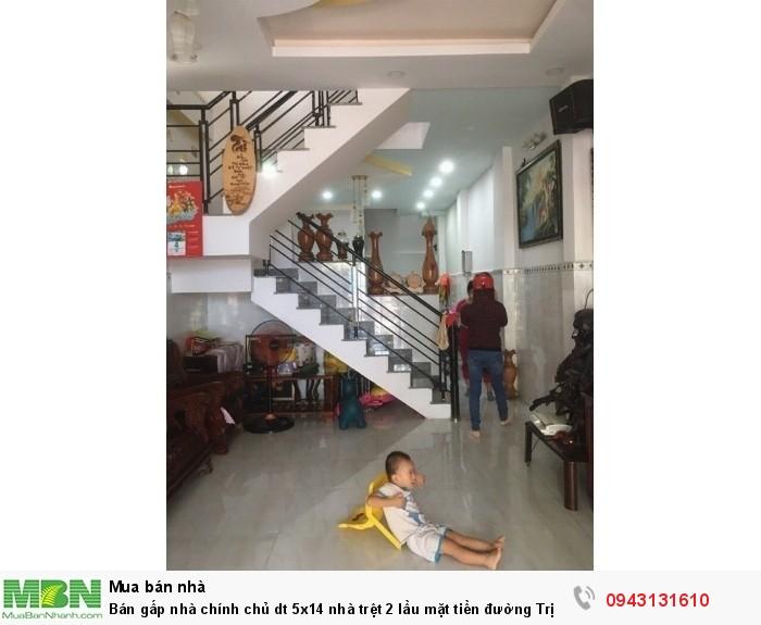 Bán gấp nhà chính chủ dt 5x14 nhà trệt 2 lầu mặt tiền đường Trịnh như Khuê bán 2,85 tỷ gần chợ Bình chánh