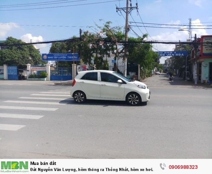 Đất Nguyễn Văn Lượng, hẻm thông ra Thống Nhất, hẻm xe hơi. Quân Gò Vấp