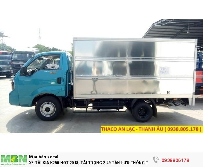 Xe Tải Kia K250 Hot 2018, Tải Trọng 2,49 Tấn Lưu Thông Thành Phố, Hỗ Trợ 80% Giá Trị Xe. 4