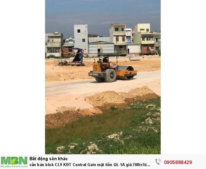 Cần bán blok CL9 KĐT Central Gate mặt tiền QL 1A giá 700tr/lô 100m2