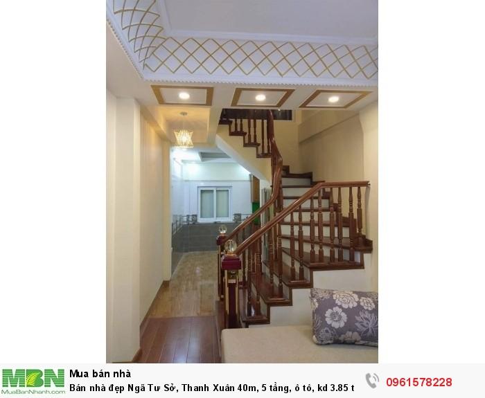 Bán nhà đẹp Ngã Tư Sở, Thanh Xuân 40m, 5 tầng, ô tô, kd 3.85 tỷ.