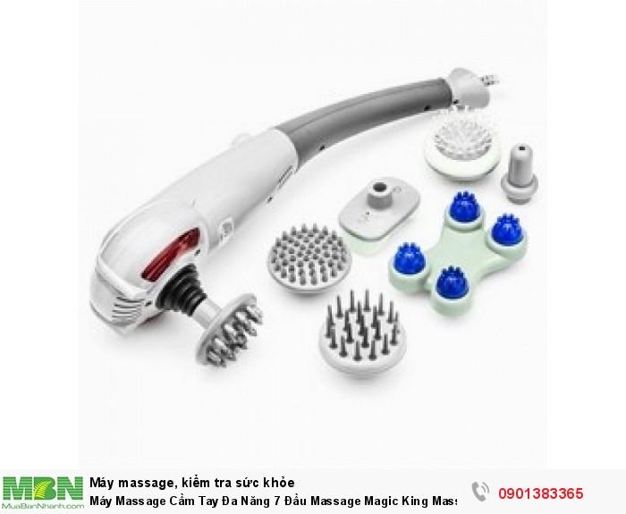 Máy Massage Cầm Tay Đa Năng 7 Đầu Massage Magic King Massager -  MSN383257