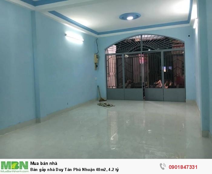 Bán gấp nhà Duy Tân Phú Nhuận 40m2