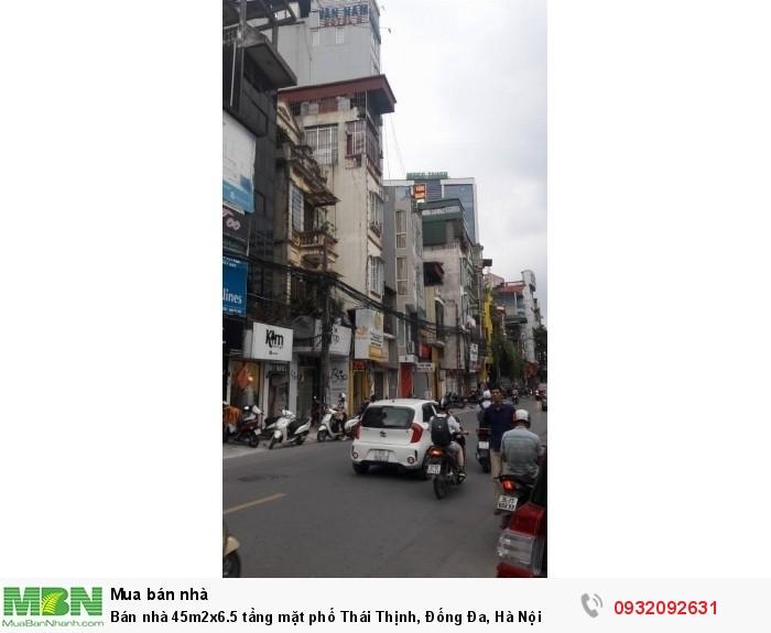 Bán nhà 45m2x6.5 tầng mặt phố Thái Thịnh, Đống Đa, Hà Nội