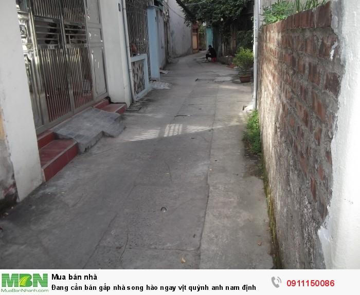 Đang cần bán gấp nhà song hào ngay Vịt Quỳnh Anh Nam Định
