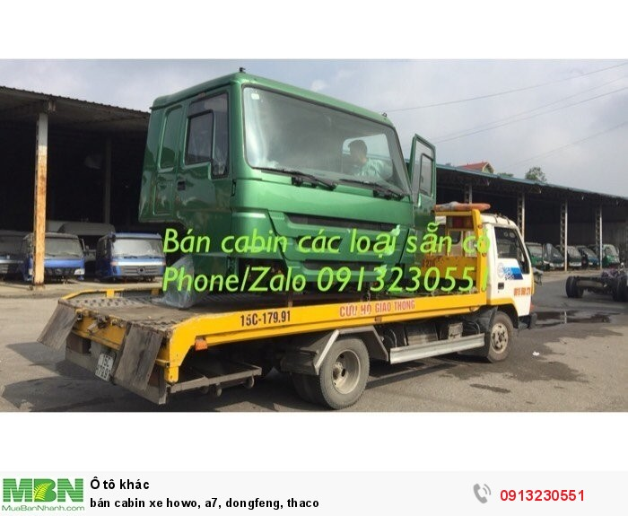 Bán Cabin Xe Howo, A7, Dongfeng, Thaco