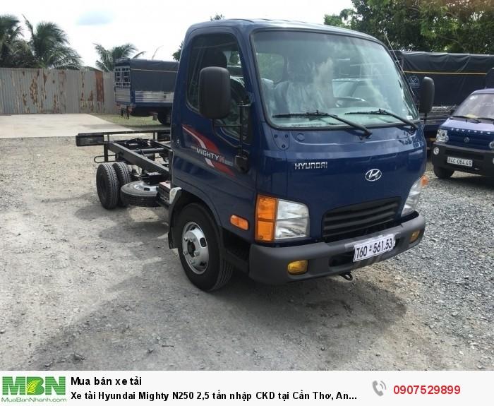Xe tải Hyundai Mighty N250 2,5 tấn nhập CKD tại Cần Thơ, An Giang, Kiên Giang, Vĩnh Long, Hậu Giang, Sóc Trăng