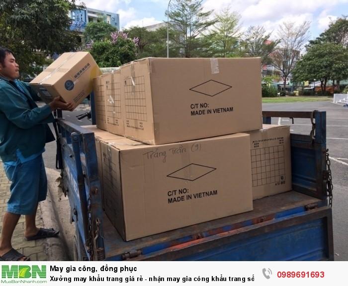 Ngoài khu vực TPHCM, May Trang Trần nhận đặt hàng tại tỉnh, hỗ trợ vận chuyển hàng may gia công khẩu trang về tỉnh theo đặt hàng của bạn!