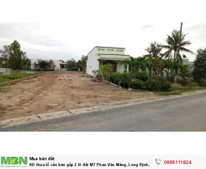 KD thua lỗ cần bán gấp 2 lô đất MT Phan Văn Mãng, Long Định, Cần Đước chỉ 780 triệu/125m2