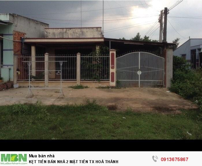 Kẹt Tiền Bán Nhà 2 Mặt Tiền Tx Hoà Thành