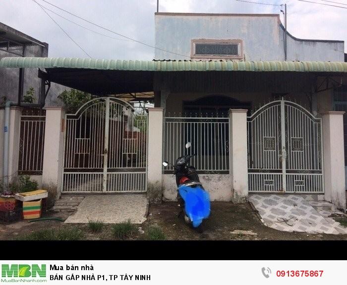 Bán Gấp Nhà P1, Tp Tây Ninh
