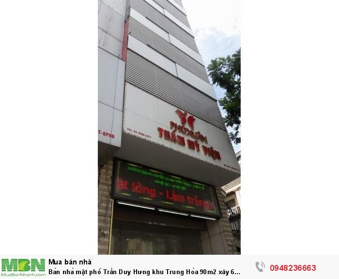 Bán nhà mặt phố Trần Duy Hưng khu Trung Hòa 90m2 xây 6 tầng mặt tiền 5m 45 tỷ