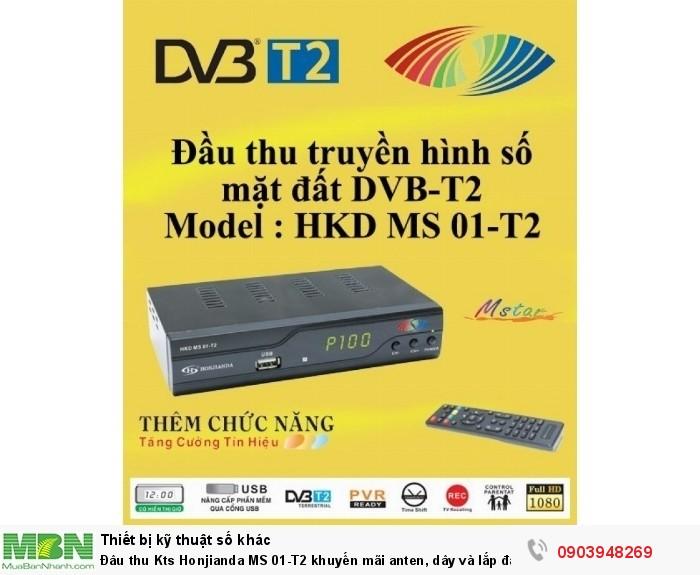 ĐẦU THU TRUYỀN HÌNH KỸ THUẬT SỐ MẶT ĐẤT DVB-T2 HONJIANDA MS 01 hàng Việt nam Chất lượng cao