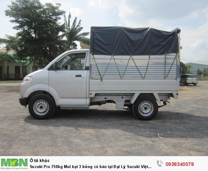 Suzuki Pro 750kg Mui bạt 3 bửng có bán tại Đại Lý Suzuki Đồng Nai Giá tốt nhất hỗ trợ trả góp