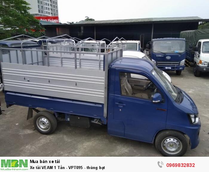 Xe tải Veam 990kg VPT095 thùng mui bạt được trang bị động cơ xăng CA4GX15, 4 kỳ 4 xi lanh thẳng hàng hoạt động mạnh mẽ, với dung tích 1495cc sản sinh công suất cực đại 75kW tại vòng tua máy 5.800v/ph vận hành bền bỉ, tiết kiệm nhiên liệu