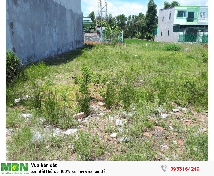 Bán đất thổ cư 100% xe hơi vào tận đất