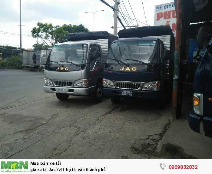 giá xe tải Jac 2.4T hạ tải vào thành phố