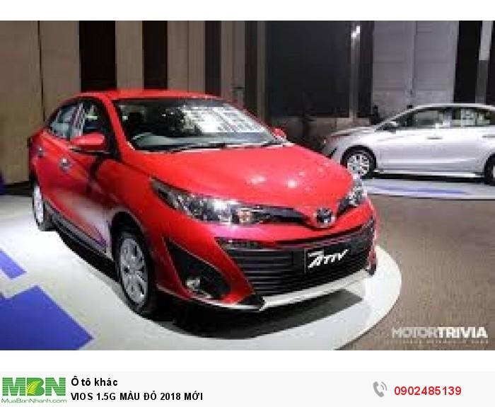 Toyota Vios 1.5G MÀU ĐỎ GIAO NGAY 2
