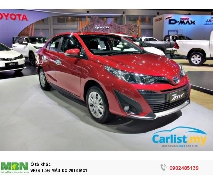 Toyota Vios 1.5G MÀU ĐỎ GIAO NGAY 3