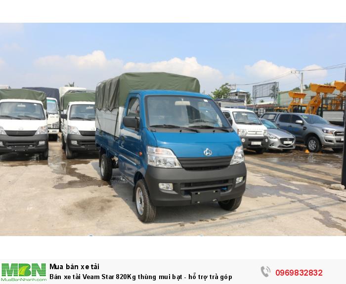 Bán xe tải Veam Star 820Kg thùng mui bạt - hỗ trợ trả góp