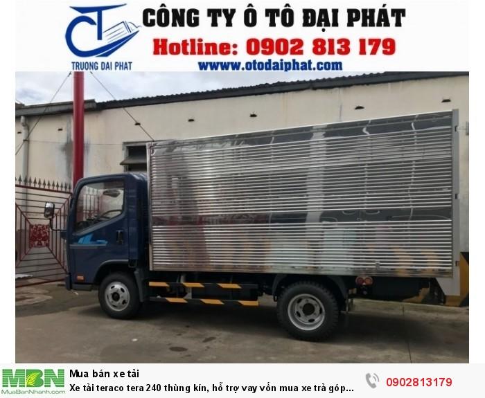Xe tải teraco tera 240 thùng kín, hỗ trợ vay vốn mua xe trả góp 80%