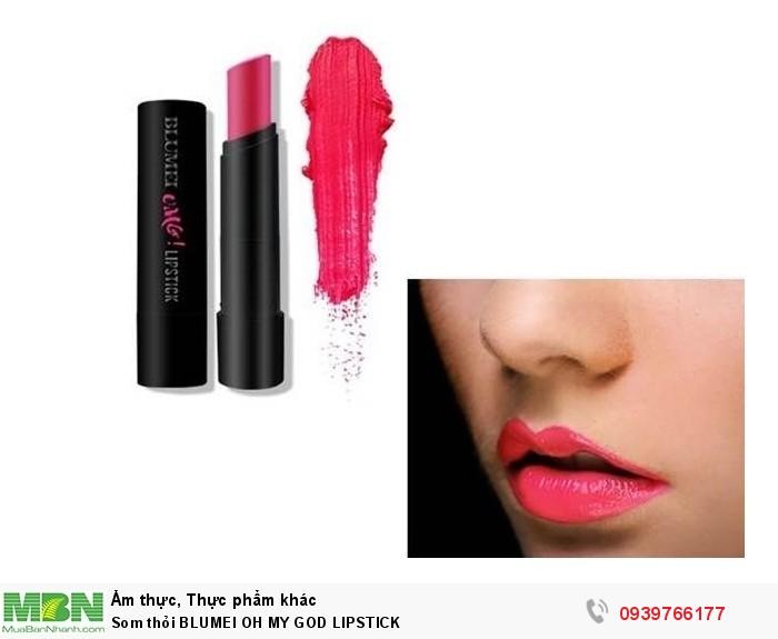 Som Thỏi Blumei Oh My God Lipstick2
