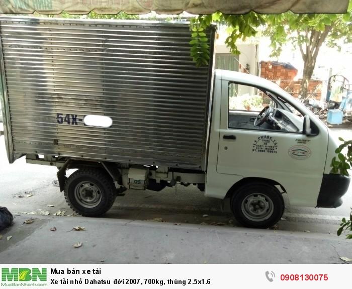 Xe tải nhỏ Dahatsu đời 2007, 700kg, thùng 2.5x1.6
