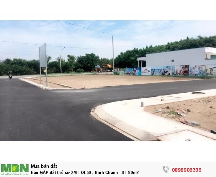 Bán GẤP đất thổ cư 2MT QL50 , Bình Chánh , DT 80m2