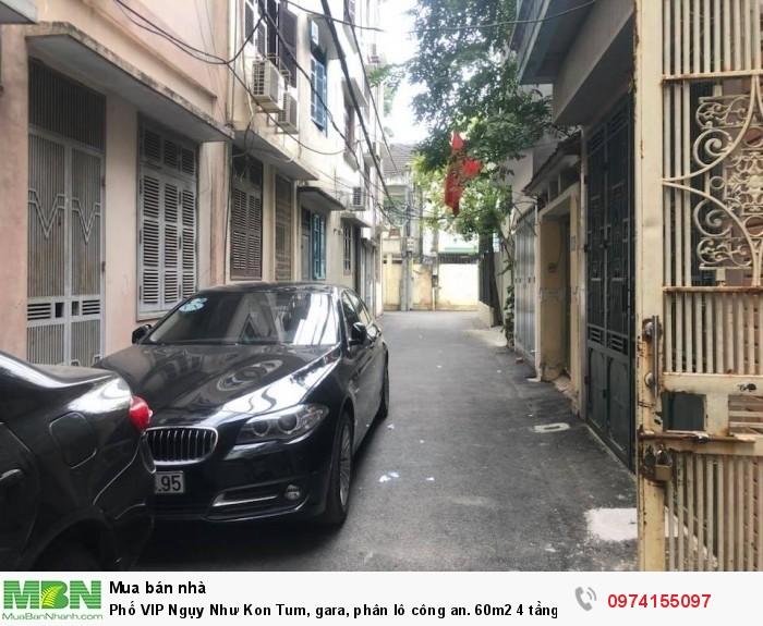 Phố VIP Ngụy Như Kon Tum, gara, phân lô công an. 60m2 4 tầng