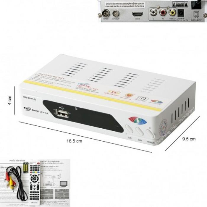 ĐẦU THU TRUYỀN HÌNH KỸ THUẬT SỐ MẶT ĐẤT DVB-T2 HONJIANDA MS 01 có màu trắng