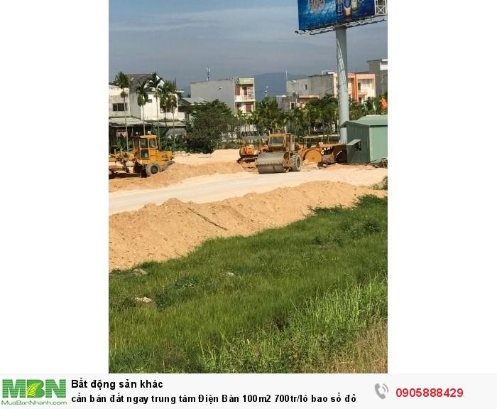 Cần bán đất ngay trung tâm Điện Bàn 100m2 700tr/lô bao sổ đỏ