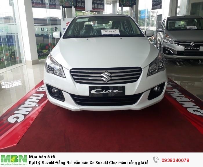 Đại Lý Suzuki Đồng Nai cần bán Xe Suzuki Ciaz màu trắng giá tốt có xe giao ngay hỗ trợ trả góp lãi suất thấp