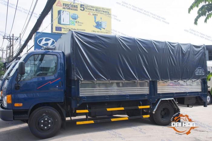 Xe Hyundai 7 Tấn Thùng Kèo Mui Bạt, Kèo Bạt Bững Nâng Hàng 3 Cục
