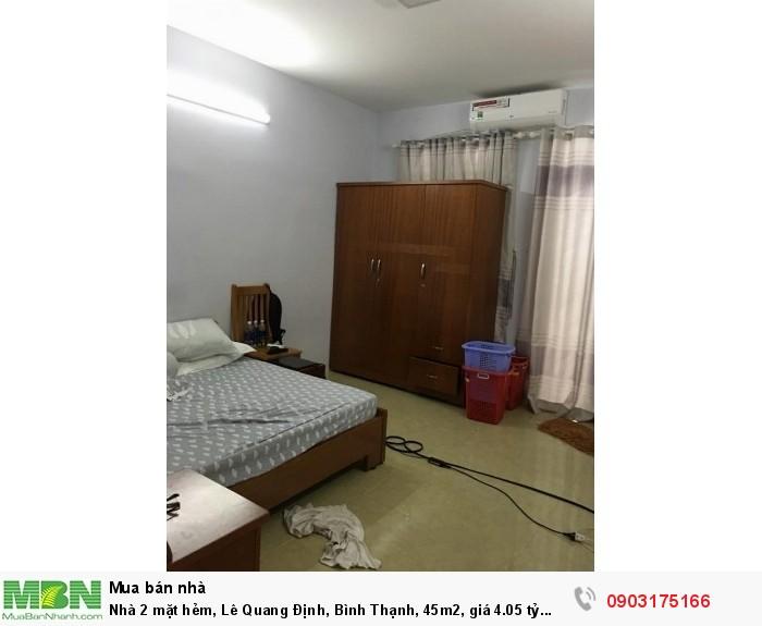 Nhà 2 mặt hẻm, Lê Quang Định, Bình Thạnh, 45m2
