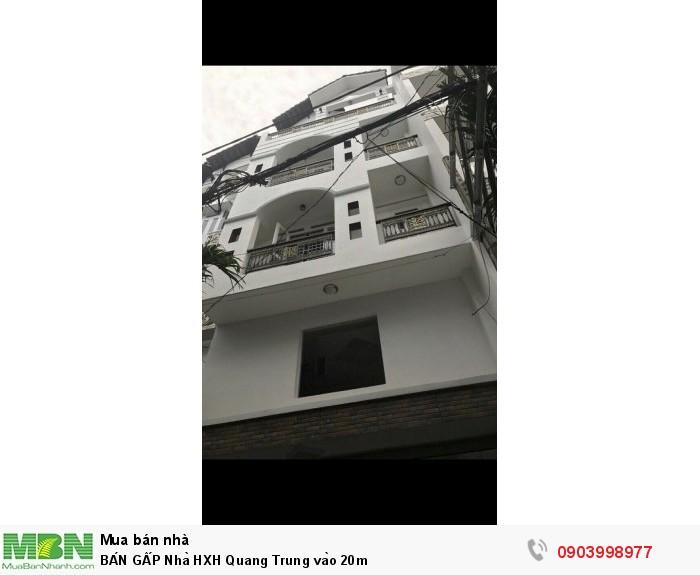 BÁN GẤP Nhà HXH Quang Trung vào 20m