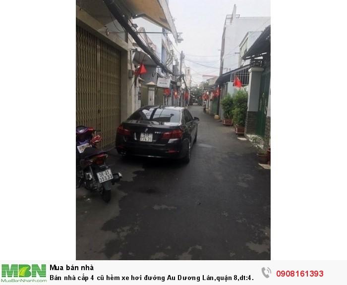 Bán nhà cấp 4 cũ hẻm xe hơi đường Au Dương Lân,quận 8,dt:4.1x23m