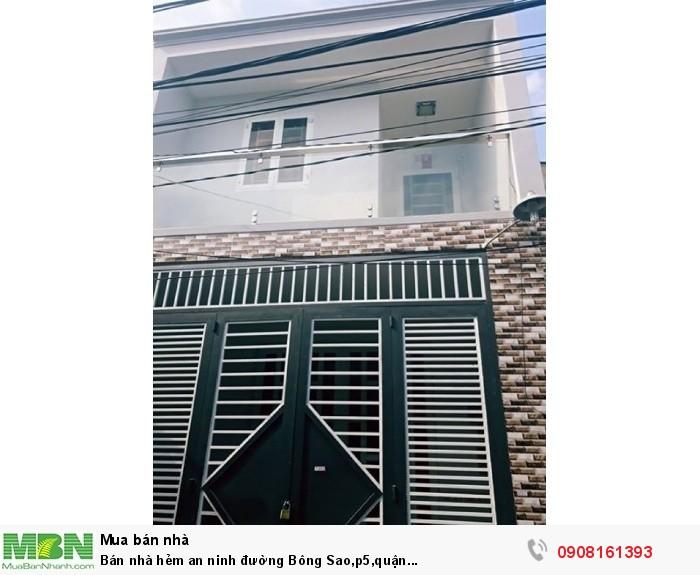 Bán nhà hẻm an ninh đường Bông Sao,p5,quận 8,dt:47x16m,1tr,1L,1Lầu,st