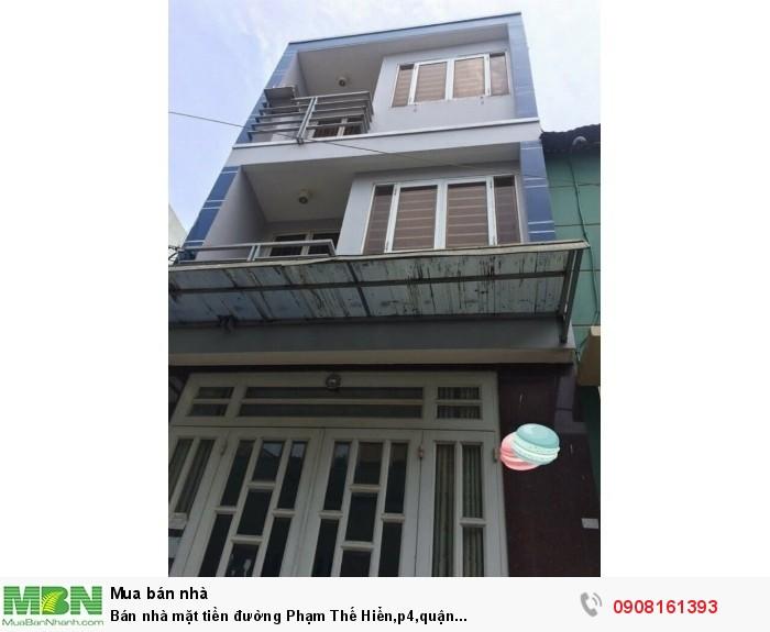 Bán nhà mặt tiền đường Phạm Thế Hiển,p4,quận 8,dt:3.5x16m,1tr,2lầu