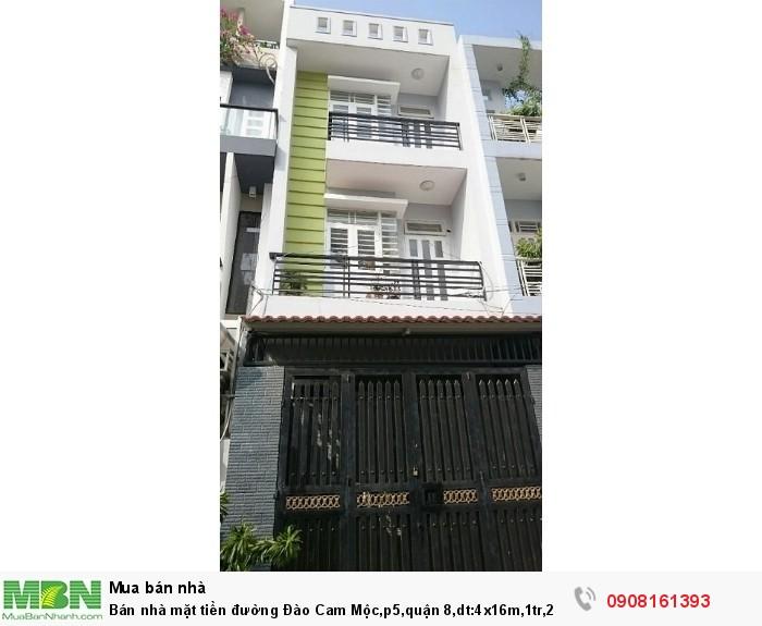 Bán nhà mặt tiền đường Đào Cam Mộc,p5,quận 8,dt:4x16m,1tr,2 lầu