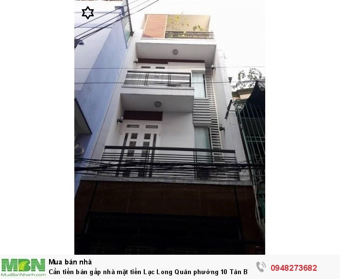 Cần tiền bán gấp nhà mặt tiền Lạc Long Quân phường 10 Tân Bình, 65m2