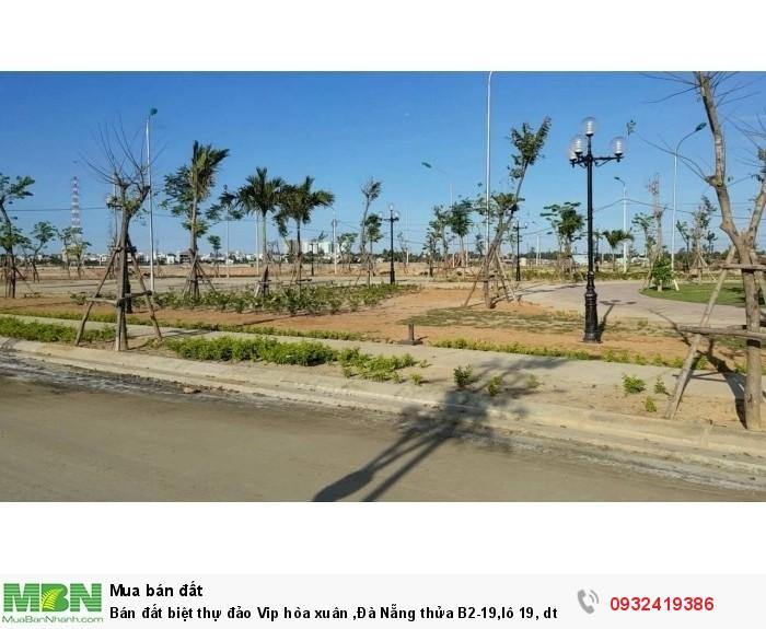 Bán Đất Biệt Thự Đảo Vip Hòa Xuân ,đà Nẵng Thửa B2-19,lô 19, Dt : 250 M2, Hướng Đông Nam